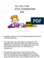 Elc231 Evaluative Commentary