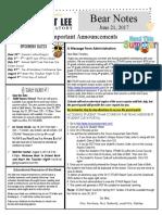 Bear Notes Newsletter 6 21 17 Eng