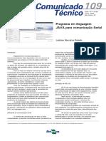 Programa Em Linguagem JAVA Para Comunicação Serial - CT109_2009