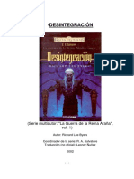 Reinos Olvidados - Salvatore, R a - Guerra de La Reina Araña 01 - Desintegración by Richard Lee Byers (2002)