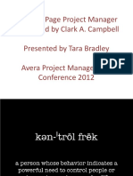 The One - Page Project Manager