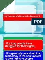 Key Elements of a Democratic Government part