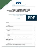 Real Decreto 1407/1992, de 20 de noviembre