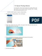 How to Operate Washing Machine - Suci Anggraini