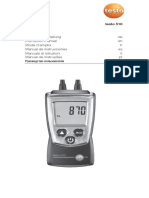 Testo 510 Instruction Manual