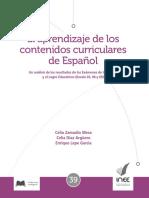 EL APRENDIZAJE DE LOS CONTENIDOS CURRICULARES DE ESPAÑOL