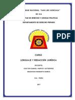 Resumen Del Curso Lenguaje y Redacción Jurídica Roberto Borda
