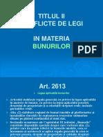 PP. Conflicte de Legi - Bunurile, Mostenirea Actul Juridic