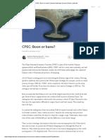 CPEC - Boon or Bane Nadeem Mumtaz Qureshi
