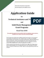 ApplicationGuideTAT SWMGrantsFY2018 FINAL