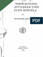 W.helck Wervaltung Des Mittleren Etc WHZVWMNR