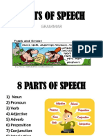Parts of Speech Sticky Note Definitons and Examples