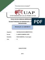 Trabajo Desarrollado Racionalizacion Administrativa Uap