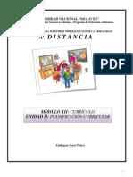 Modulo Xii Unidad II Planificacion y Desarrollo Curricular