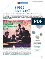 Does ISO 9000 Certification Pay