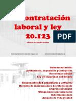 Subcontratacion Laboral y Ley 20.123