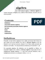 Division Algebra