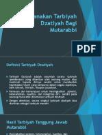 Merencanakan Tarbiyah Dzatiyah Bagi Mutarabbi