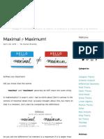 Maximal ≠ Maximum! — Math3ma