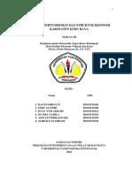 Analisis Pertumbuhan Ekonomi Kabupaten Kubu Raya