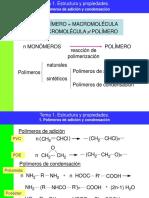 Tema 1 Estructura y Propiedades de Los Polimeros