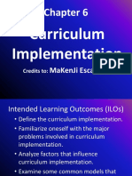 Chapter 6 Curriculum Implementation