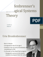 Bronfenbrenner's Ecological System Theory