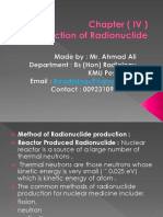 Nuclear Medicine Production of Radionuclide Chapter 4