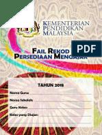 FAIL Rekod Persediaan Mengajar 2018 KPM