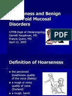 Hoarseness Slides 050413