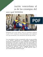 La Migración Venezolana Al Perú