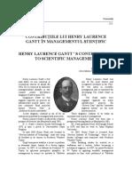 Henry Laurence Gantt ' s Contributions