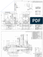 Cross Section Drawing of 27MW steam turbine