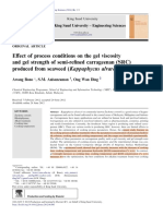 Effect of Process Conditions on Gel Viscosity and Gel Strength