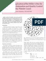MILER DISC Aplicationn Platelet Count