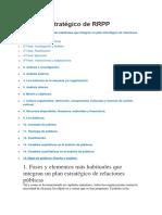 El Plan Estratégico de RRPP
