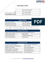 Latest Who is Who – PDF Download for Competitive Exams by ENTRANCEGEEK