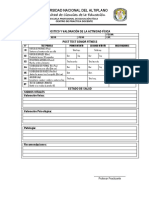 Ficha de Evaluación test senior fitness
