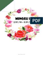 Divider Minggu RPH Tahun 2018