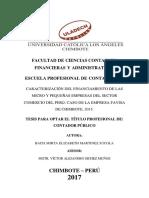 Caracterización Del Financiamiento de Las Micro y Pequeñas Empresas Del Sector Comercio Del Perú Caso de La Empresa Favisa de Chimbote 2015
