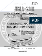 TM9-731E Carriage, Motor, 105mm Howitzer, M7