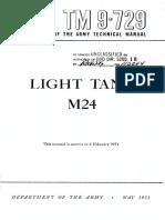 TM9-729 Light Tank M24