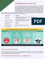 Solutions 1Z0-404 Exam Practice Test - Online Version
