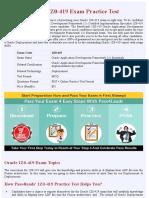 Oracle Deployement 1Z0-419 Practice Exam - Updated 2018