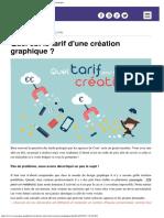Tarif d'une création graphique _ Agence de graphisme Cassiopée