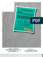 Intermediate Jazz Conception for Saxophone- Lennie Niehaus