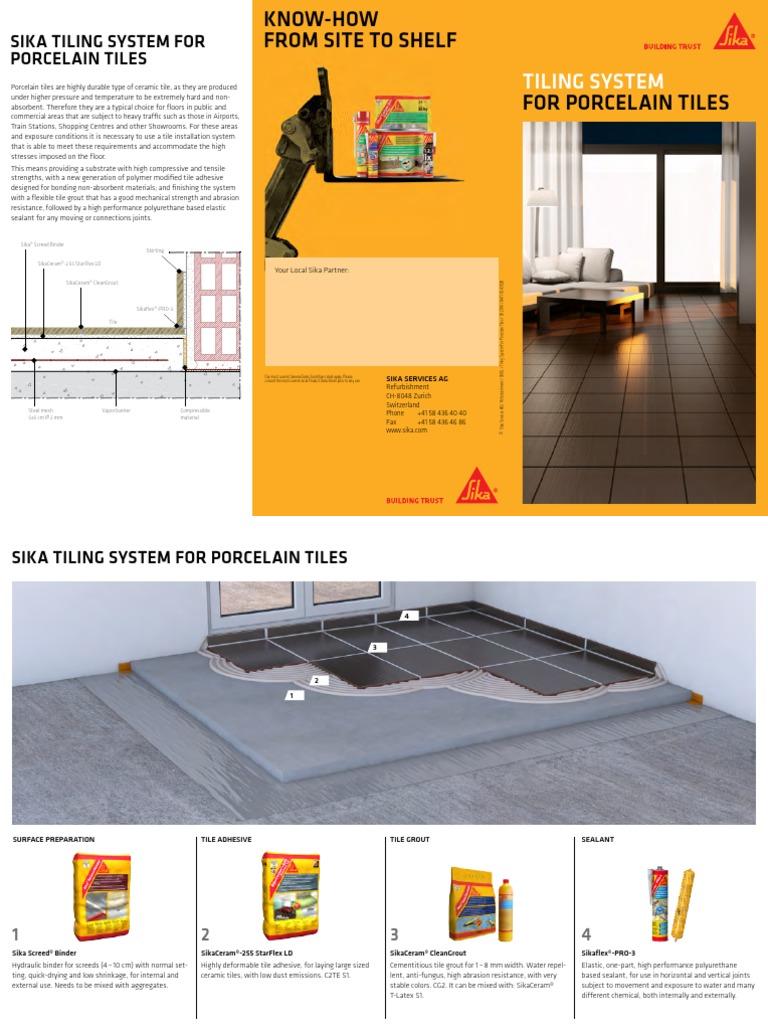 Sika Tiling System - Porcelain Tiles   Tile   Adhesive