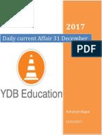 Current Affairs 31 December