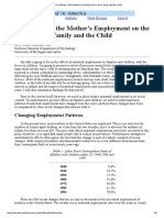 The Effects of the Mother's Employment on the Family and the Child
