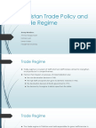 Pakistan Trade Policy and Trade Regime